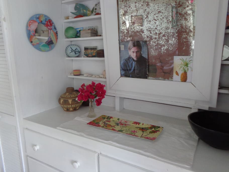 Bureau drawers and closet....(and a photo of Brad Pitt)