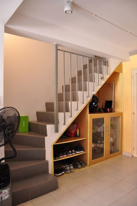 This is a mini duplex apartment (62m2 in total), the stair leads to bedroom on the loft