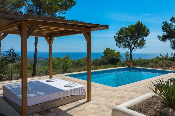 villa Es Cubell s avec une vue panoramique
