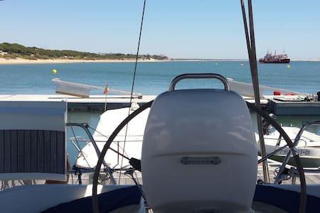 Casa barco en Paraje Natural Marismas  Río Piedras - Nuevo Portil - Barco