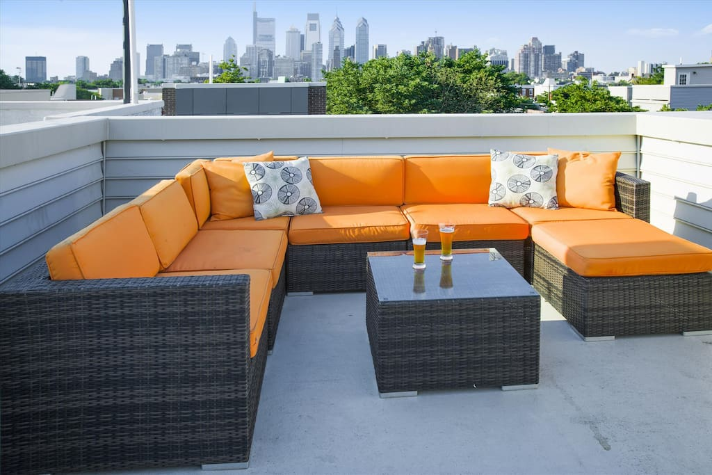 Enjoy the Philadelphia skyline from our rooftop deck