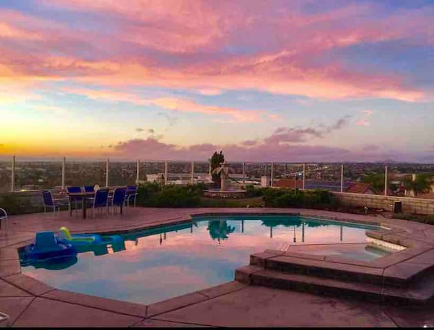 Ocean View Private Pool & Spa Home with A/C, BBQ