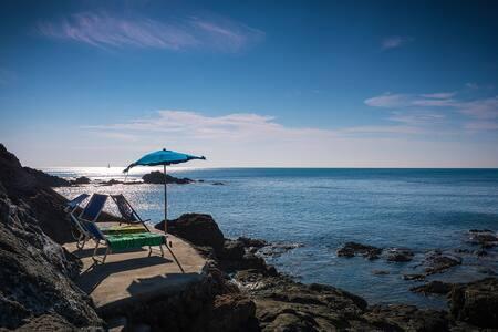 Villa sulla scogliera con accesso diretto al mare - Castiglioncello