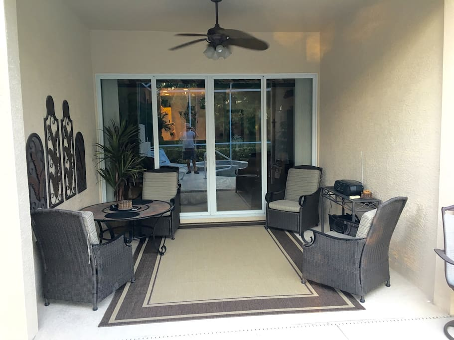 Relax and entertain on the lanai/patio.