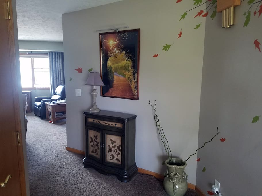 Entryway to living room