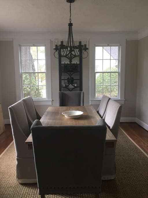 Dining room with table that seats 6 to 8 people