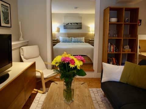 Hyggelig, privat Fraserhood-suite