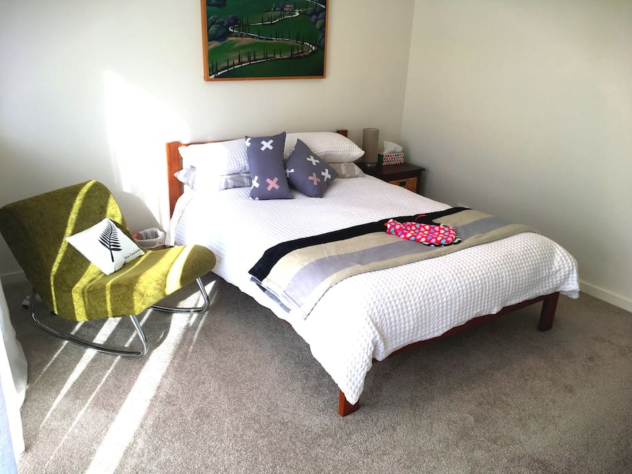 Guest room with comfy bed