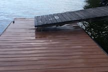 Newly decked dock.  Approach is next.