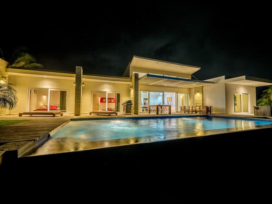 beautiful villa with a large pool and jacuzzi