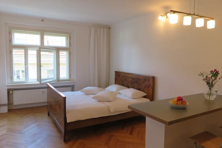 BRIGHT STUDIO WITH BEAUTIFUL BED, 10 min to centre