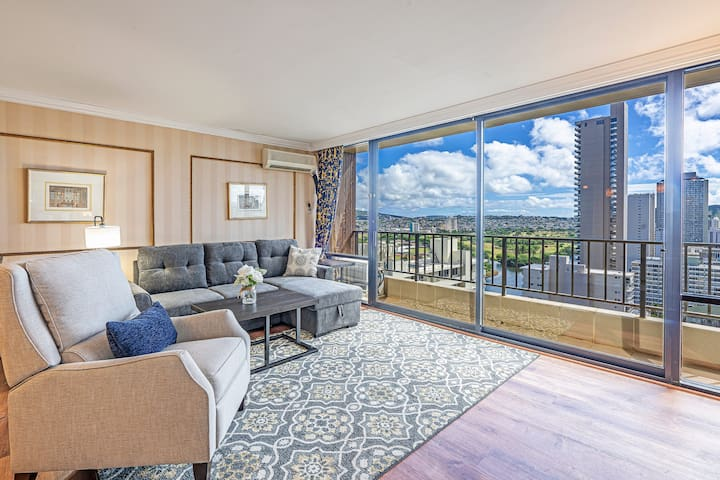 *Professionally Sanitized*Beautiful Ocean View 1 Bedroom W/Large Lanai - Royal Garden City & Ocean 1 BDR on the 24th Floor