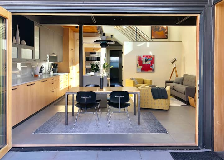 One of a kind home of Space and Light, perfectly located in downtown Boulder just off Pearl Street!
