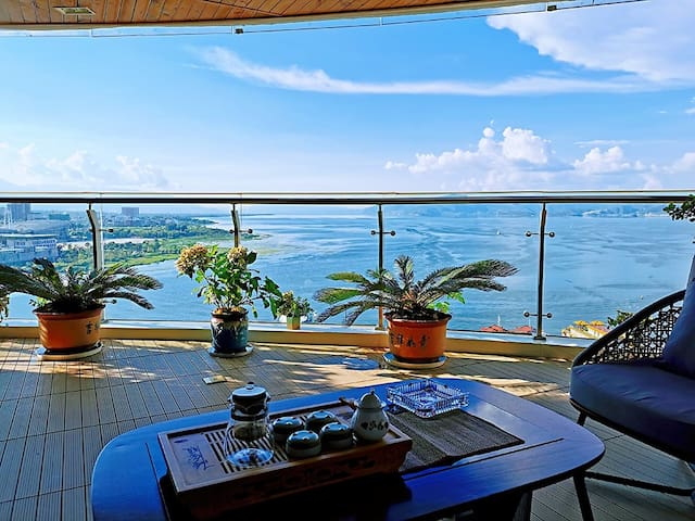 悦海蓝湾•俯瞰整个洱海•洱海公园360平山海空中墅•赠免费接机•当季新鲜水果
