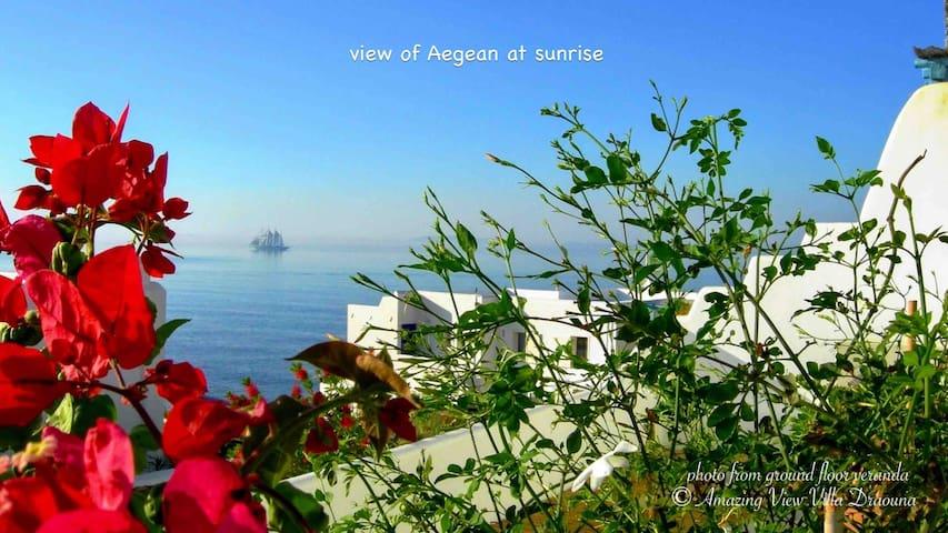 "Amazing view Villa ""Draouna"", Agios Sostis, Tinos."