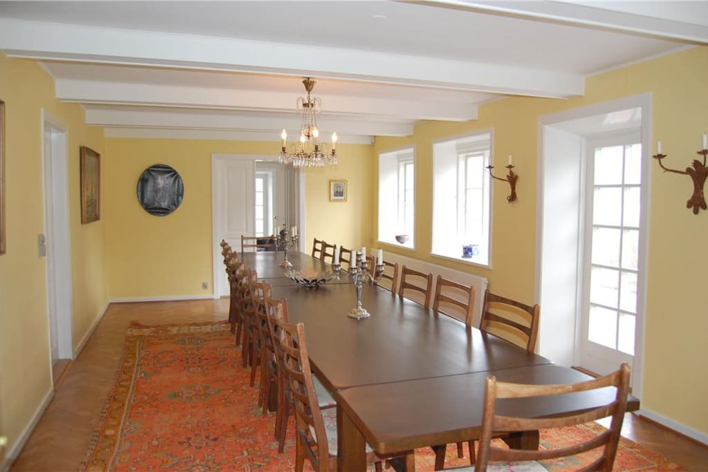 Dining table with room for 18 persons