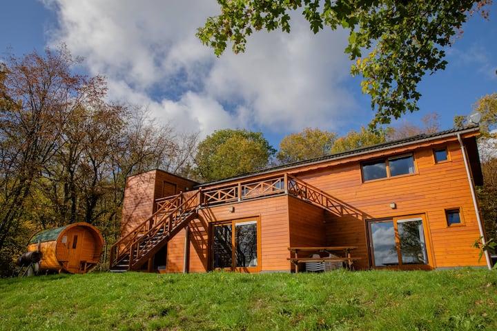 Prachtige chalet met wellnessruimte in de Ardennen