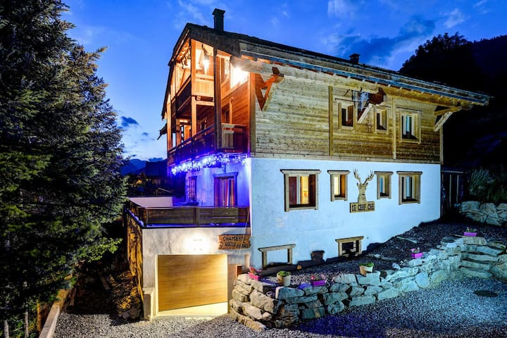 Chalet Serre Che ***** 10 people. 350 m from the slopes, with indoor pool, balneo, sauna, garage - La Salle-les-Alpes - Chalupa
