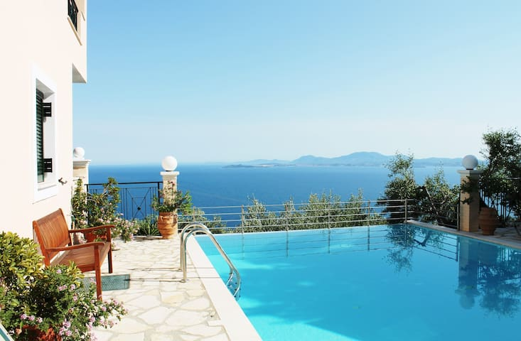 Stylish villa on a hill, with stunning sea views