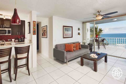 OCEANFRONT APT, COZY And GREAT VIEW, 2B/2B/1Pk