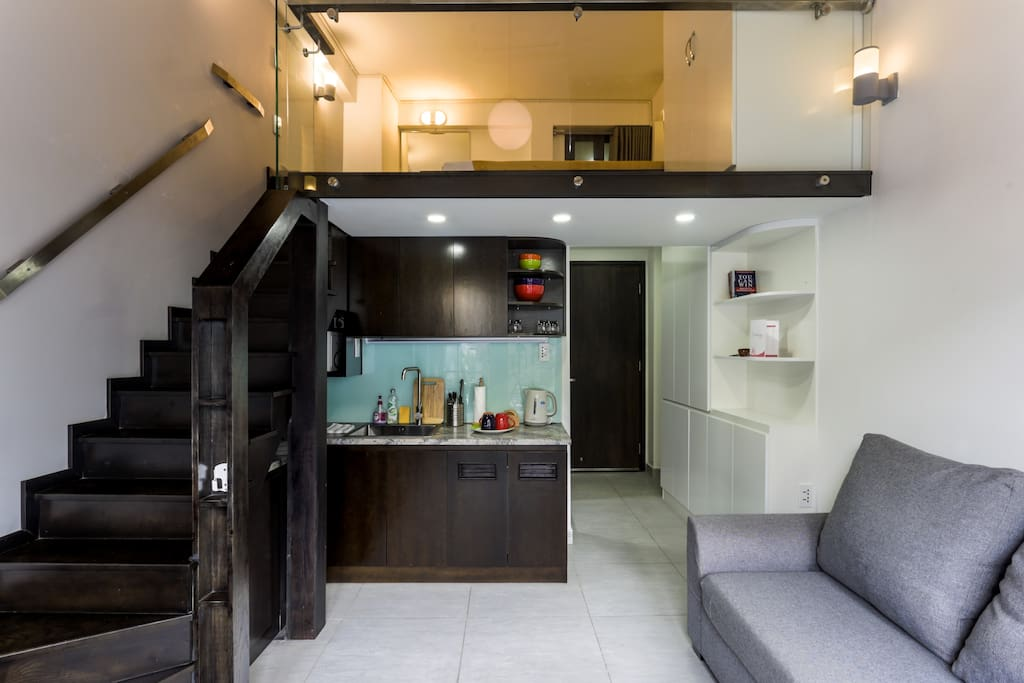Simple design and you have your own kitchenette!