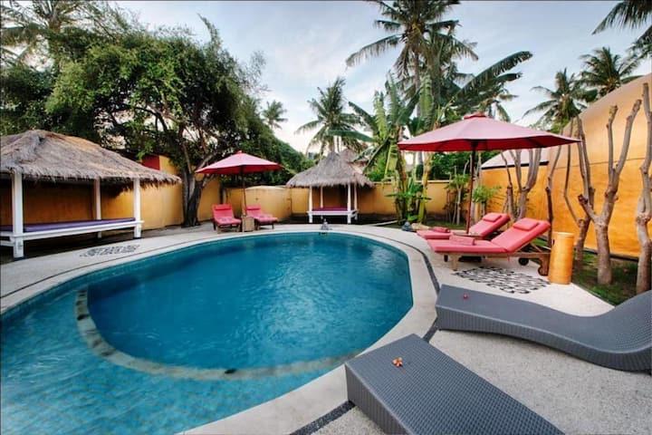 Gili Air Island Beachfront BElair Two BedroomVilla