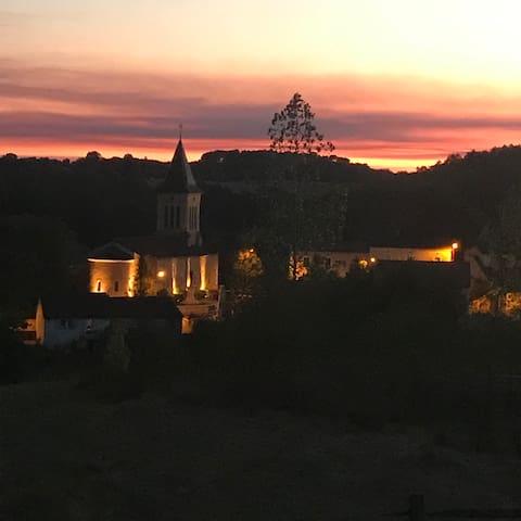 Une vue magnifique sur le village