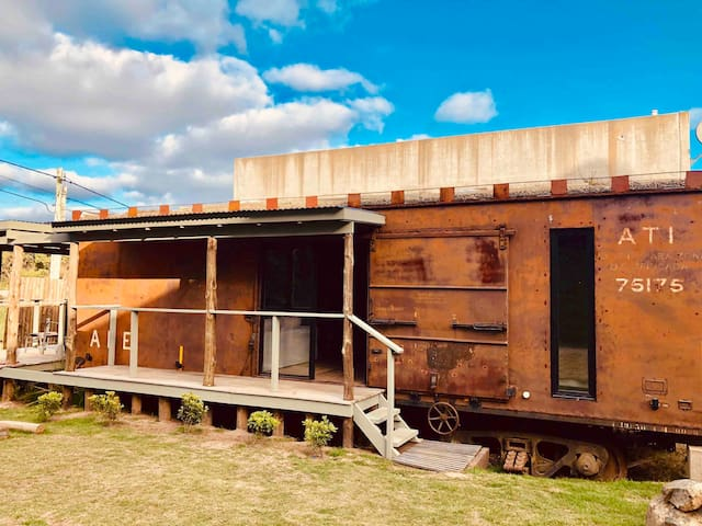 Unique 1950's train cell converted into a house.