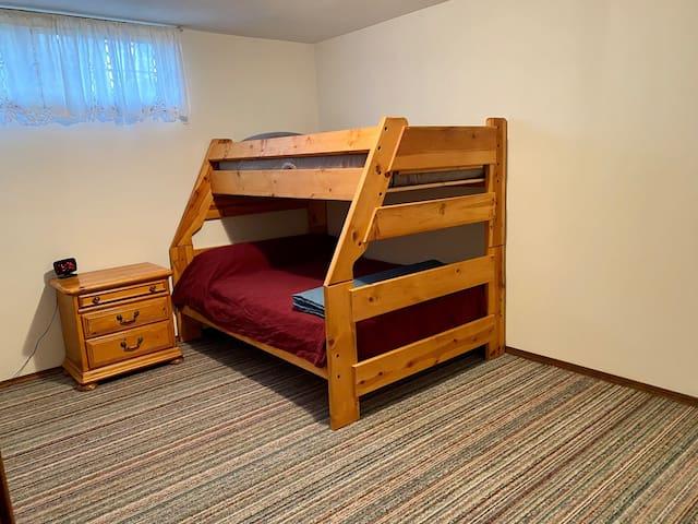 Bedroom 3 - bunk bed sleeps 3