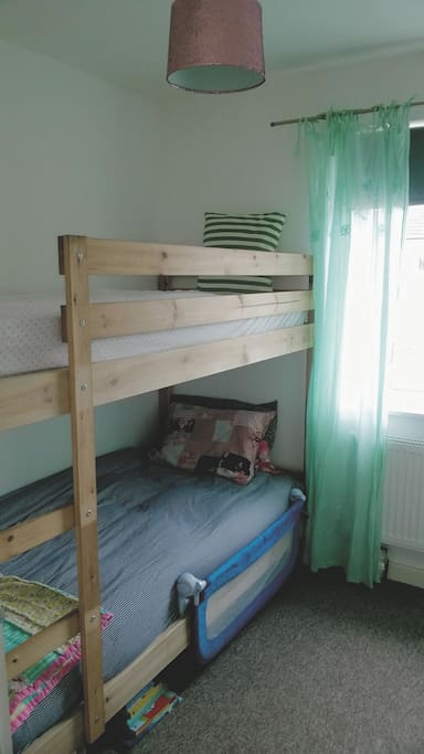Single bunk beds - small room