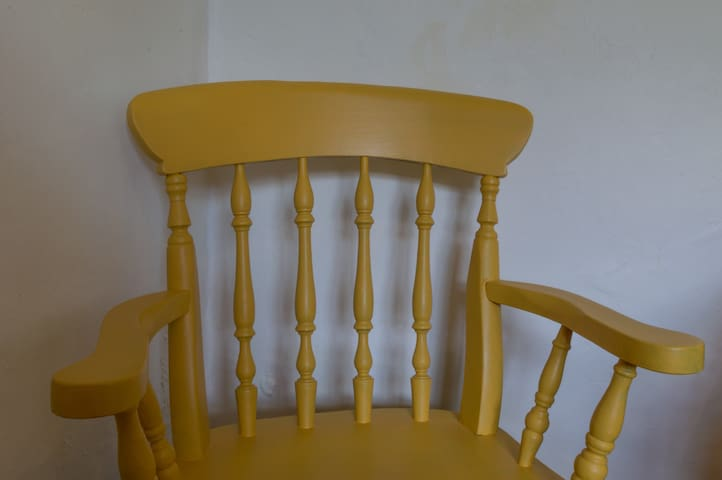 And old kitchen chair which we found in the house when we bought it.