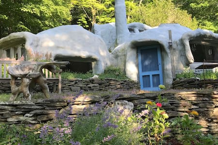 """""""Whimsical Stone Abode"""" - Boston Magazine"""