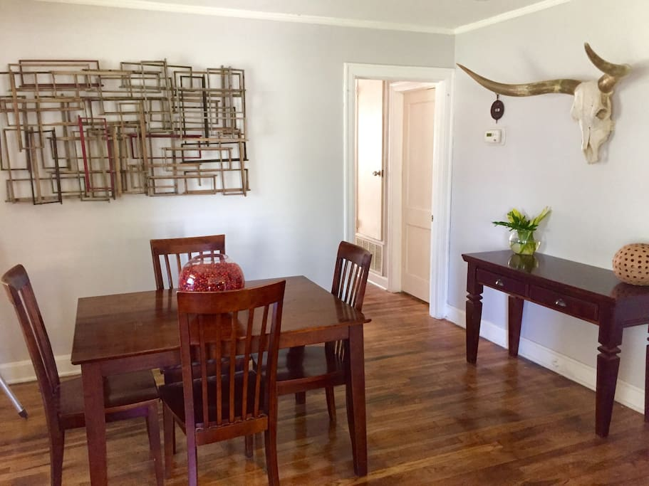 Dining room for eating or for work space.