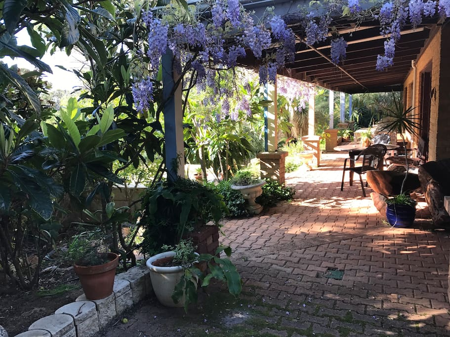 Relax in the shade of the verandah