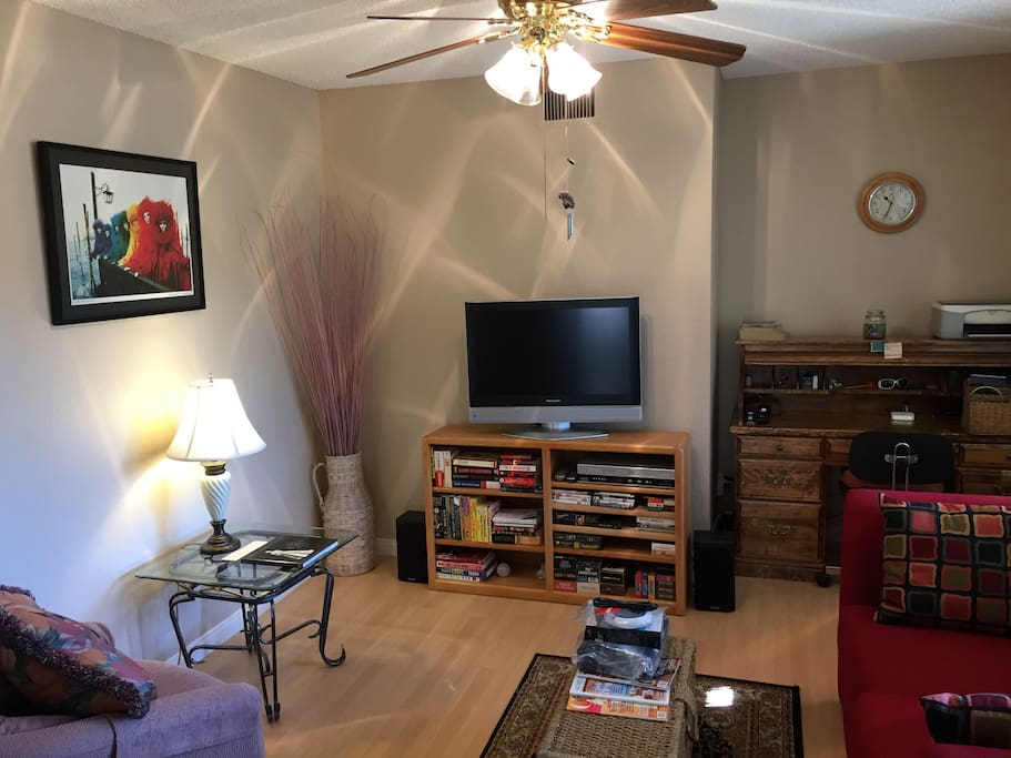 Entertainment room with foldout