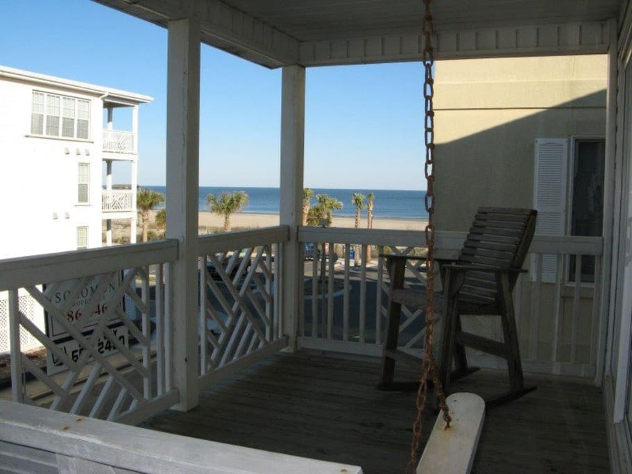 Enjoy the ocean view from your private balcony, just steps from the beach