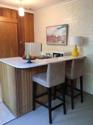 Kitchenette and seating
