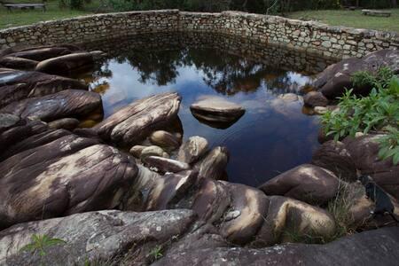 Ranchinho Água Fria - Casa de Pau a Pique.