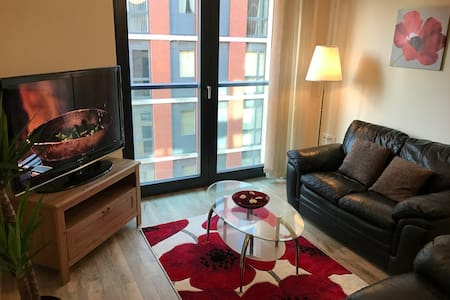 2 Bed By Station, O2, Theatres, Bullring & Parking - 버밍험(Birmingham) - 아파트