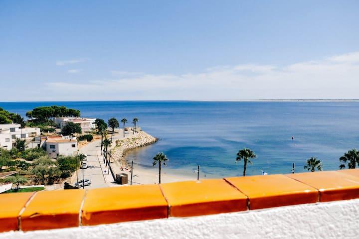 Ático Sant Jordi playa Avellanes 1a linea de mar