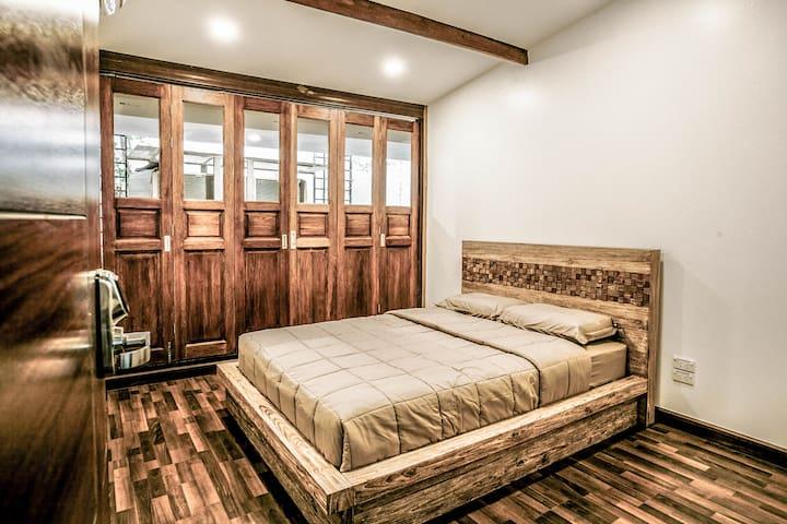 Bedroom #4 -Queen-size teak wood bed on 2nd floor bedroom with a sofa bed, good for 3 peoples
