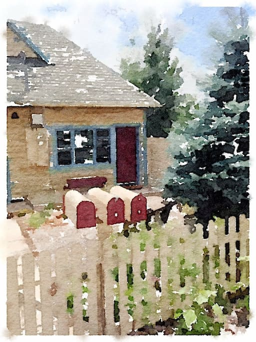 Willow cottage rendered in watercolor :)