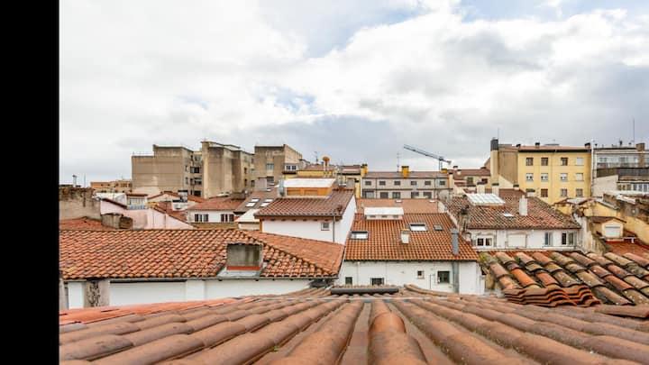 Pamplona a vista de pájaro: Ático-dúplex Centro.