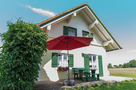 Detached, comfortable holiday home near the Chiemsee with terrace and garden