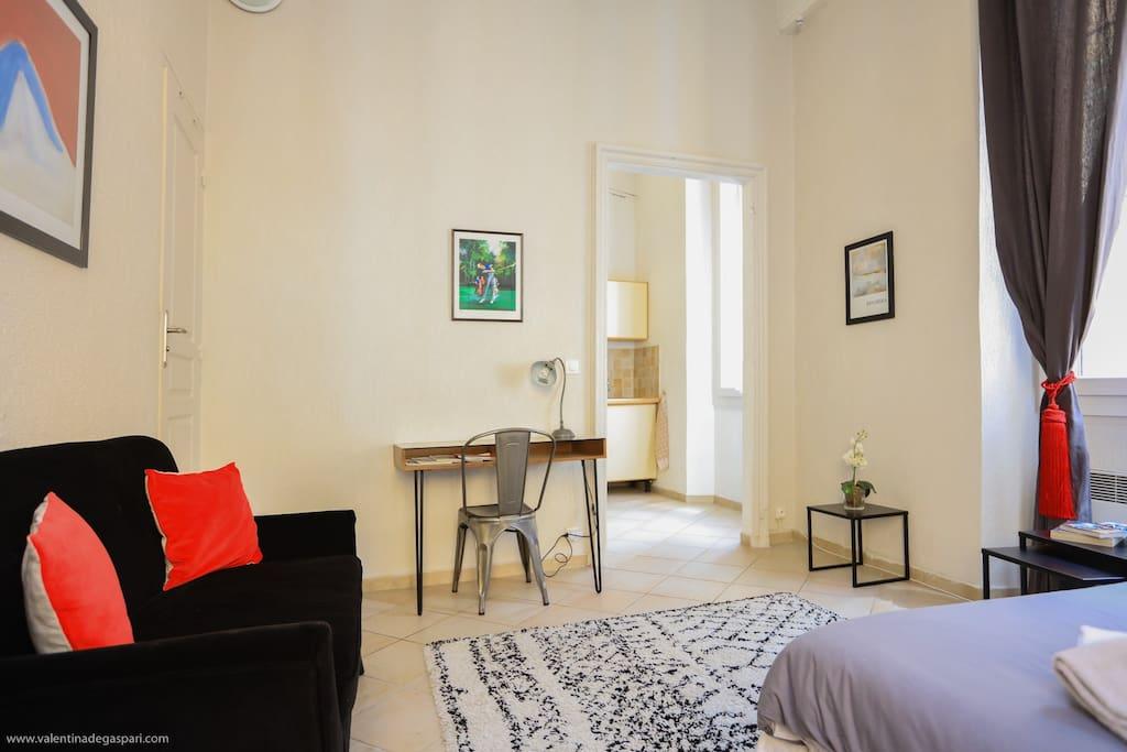Chambre - salon / Main room