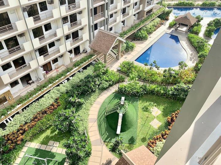 New 2 bedroom Condo unit with balcony near Manila