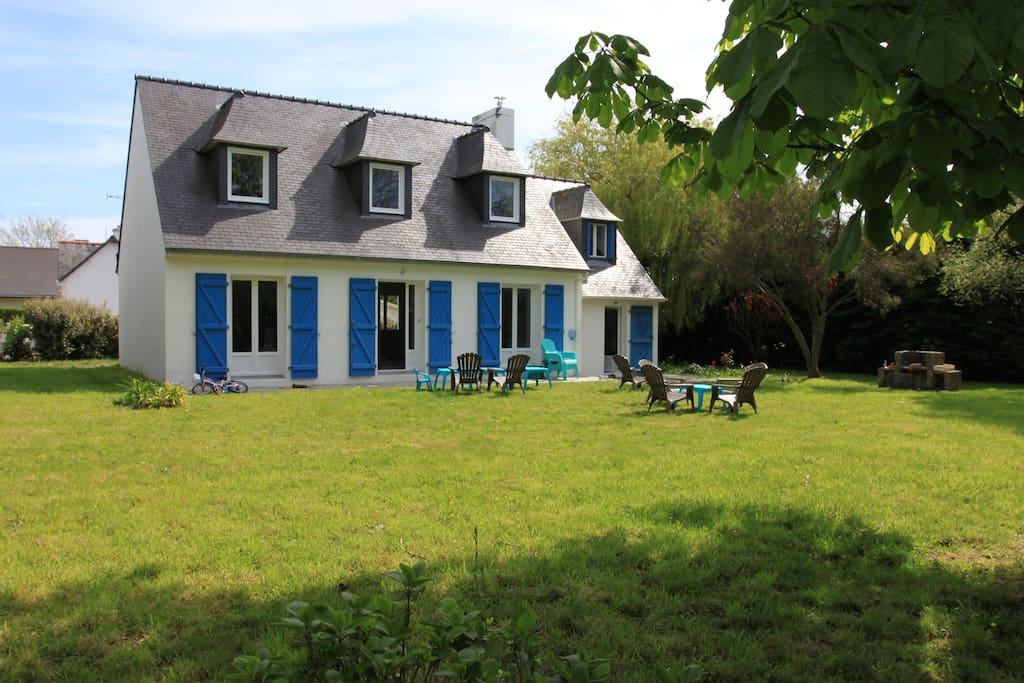 Villa Bleu Breton et son jardin exposé sud