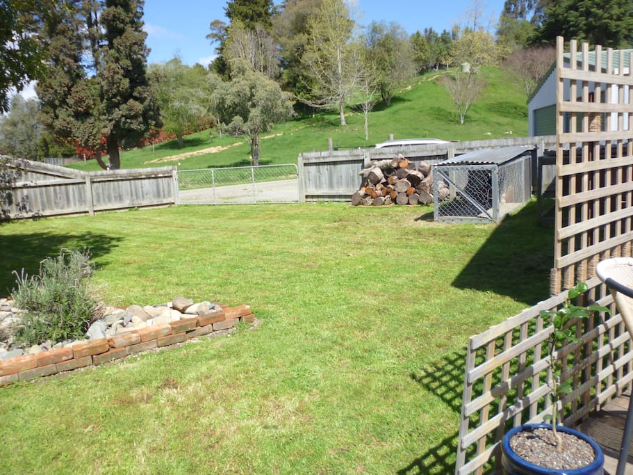 Fully fenced garden and kennel for use if needed