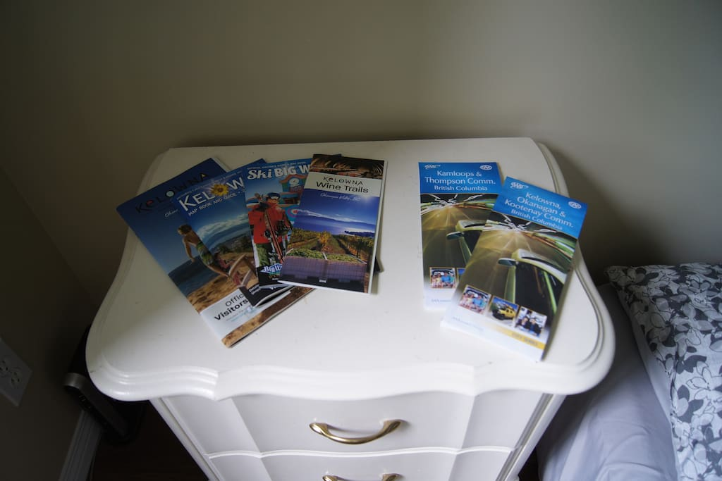 Tourism and day planning materials.