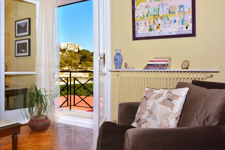 Amazing 2 story apartment for 7 people in Thessio - Athina - Apartamento